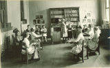 Elementary music class in Old Dental Building, The University of Iowa, 1919