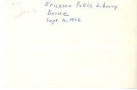 Erickson Public Library <br /><br />