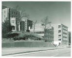 Hillcrest Residence Hall facing east on Riverside Drive, the University of Iowa, 1960