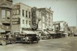 Downtown Street Scene in Oskaloosa, Iowa, Circa 1935
