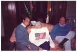 Louise Noun, Pete Hunter and John Chrystal, May, 1991