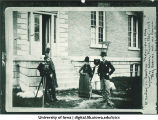 Amateur photographer's club in front of library, Physics Building, The University of Iowa, 1888