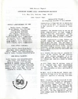 1984 Poweshiek County Soil and Water Conservation District Annual Report
