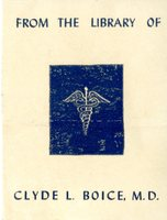 Clyde L. Boice, M.D. Bookplate