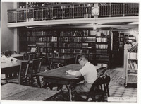 013. Reading Room in 1965 at the Fairfield, Iowa Public Library