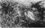 Exposure of Carboniferous sandstone west of Robert's Ferry bridge, Iowa, late 1890s or early 1900s