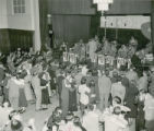 Couples dancing to the Elliot Lawrence Band at the Homecoming Dance, 1948