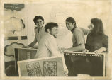 Artists preparing for poetic experiment, The University of Iowa, May 28, 1969