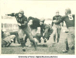 Football game on Iowa Field, The University of Iowa, 1917 or 1919