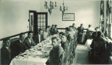 Men dining in the Iowa Memorial Union, the University of Iowa, circa 1930