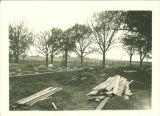 Construction of Quadrangle Hall, The University of Iowa, 1920