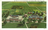 Aerial view of Independent Order of Odd Fellows home and orphans' home, Mason City, Iowa, 1920s