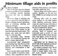 Minimum Tillage Aids In Profits