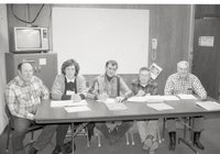 Five People at Meeting