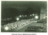 Convocation at west portico of Old Capitol,  The University of Iowa, July 1930