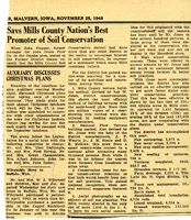 "0127a . Mills County Soil Conservation ""Nation's Best"" Newspaper Article"