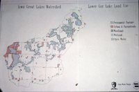 Iowa Great Lakes Watershed - Lower Gar Land Use Map.