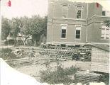 Moving of Calvin Hall, The University of Iowa, 1905