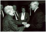 Mary Louise Smith with Darrell Wyrick at The University of Iowa Foundation Meeting, Iowa City, Iowa, October 1991