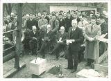 Cornerstone-laying ceremony for Gilmore Hall, the University of Iowa, 1934