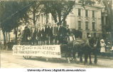 Zetagathian Society for Men parade float, The University of Iowa, 1910s