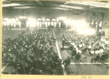 Military band performing in Main Lounge of Iowa Memorial Union, The University of Iowa, 1930s