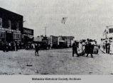 Downtown Barnes City Street Scene, 1913; Mahaska County, Iowa