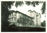 Ivy-covered East Hall, the University of Iowa, 1920s