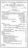 Index to Legal Periodicals: Title Page