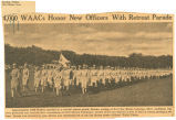 4,000 WAACs honor new officers with retreat parade