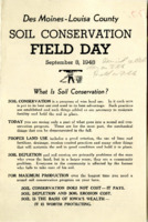 1948 - Des Moines - Louisa County Soil Conservation Field Day Program
