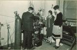 Students in Physics laboratory, The University of Iowa, 1920s