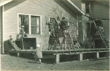 Children on playground equipment, The University of Iowa, 1930s
