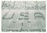 Marching band formation at Iowa football game, The University of Iowa, 1960s