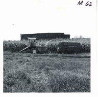John Kramer chopping silage, 1968