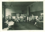 Students in classroom, The University of Iowa, May 1924