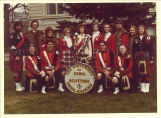 Small group of Scottish Highlanders, the University of Iowa, April 22, 1978