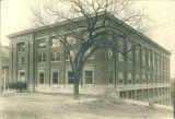 Men in front of Trowbridge Hall, The University of Iowa, May 1927