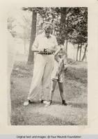 Elizabeth fishing with Vidie