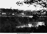 Iowa River and east campus, The University of Iowa, 1910