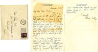 Thank You letter from Florence Kirkley to Helen Patricia (Patsy) Wilson exchanging bookplates.