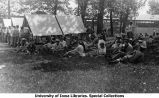 Lunch at camp, The University of Iowa, 1913
