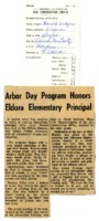 Arbor Day program honors Eldora elementary principal.