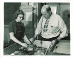 Processing of half-tone plate, The University of Iowa, 1955