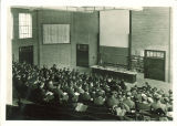 Students in a the main Chemistry lecture amphitheater, The University of Iowa, 1930s