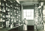 Pharmaceutical storage area in pharmacy laboratory, The University of Iowa, 1920