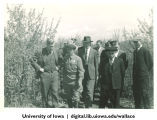 Henry Wallace with group of men, Siberia, 1944