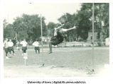Women's high jump competition, The University of Iowa, May 17, 1923