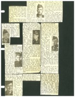 Newspaper clippings about various Beaman area men in the armed services.