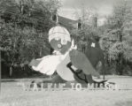 "Freeman Hall Homecoming lawn display, """"Walkin' to Missouri,"""" 1953"